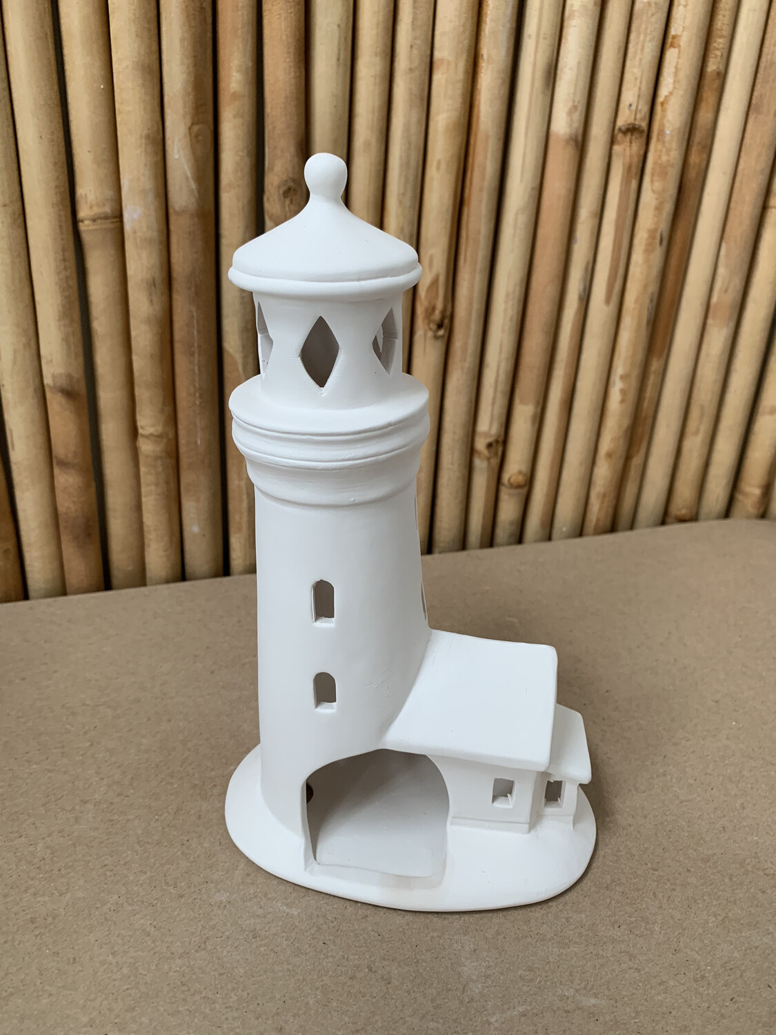 Paint Your Own Pottery - Ceramic   Lighthouse Luminary Lantern Painting Kit