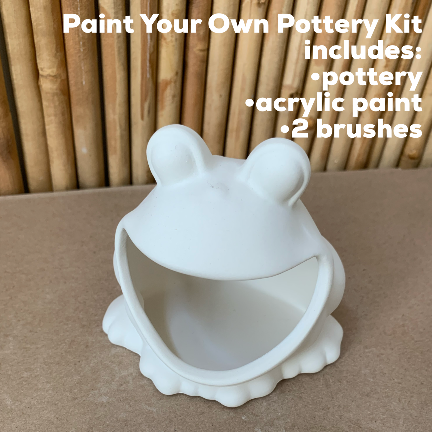 NO FIRE Paint Your Own Pottery Kit -  Ceramic Frog Acrylic Painting Kit