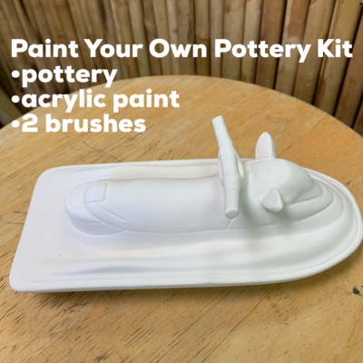NO FIRE Paint Your Own Pottery Kit -  Ceramic Jetski Acrylic Painting Kit