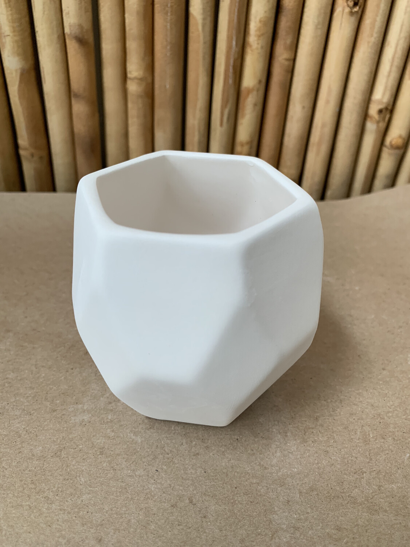 NO FIRE Paint Your Own Pottery Kit -  Ceramic Prism Succulent Planter Acrylic Painting Kit