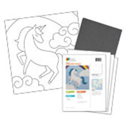Magic Unicorn Acrylic Paint On Canvas Kit