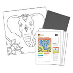 Colorful Elephant Acrylic Paint On Canvas Kit