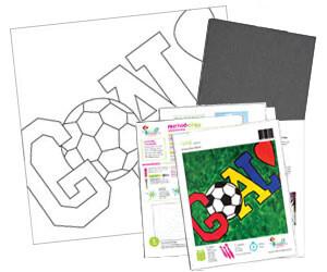 Goal! Soccer Acrylic Paint On Canvas Kit