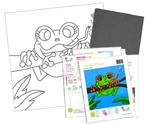 Frog Acrylic Paint On Canvas Kit
