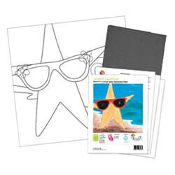 Starfish with Sunglasses Acrylic Paint On Canvas Kit