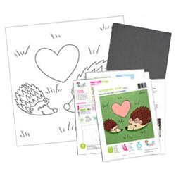Hedgehog Love Acrylic Paint On Canvas Kit