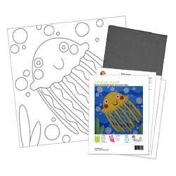 Baby Jellyfish Acrylic Paint On Canvas Kit
