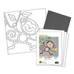 Monkey Fun Acrylic Paint On Canvas Kit