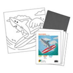 Shark on a Surfboard Acrylic Paint On Canvas Kit