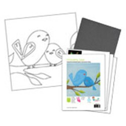 Motherly Love Bird Acrylic Paint On Canvas Kit