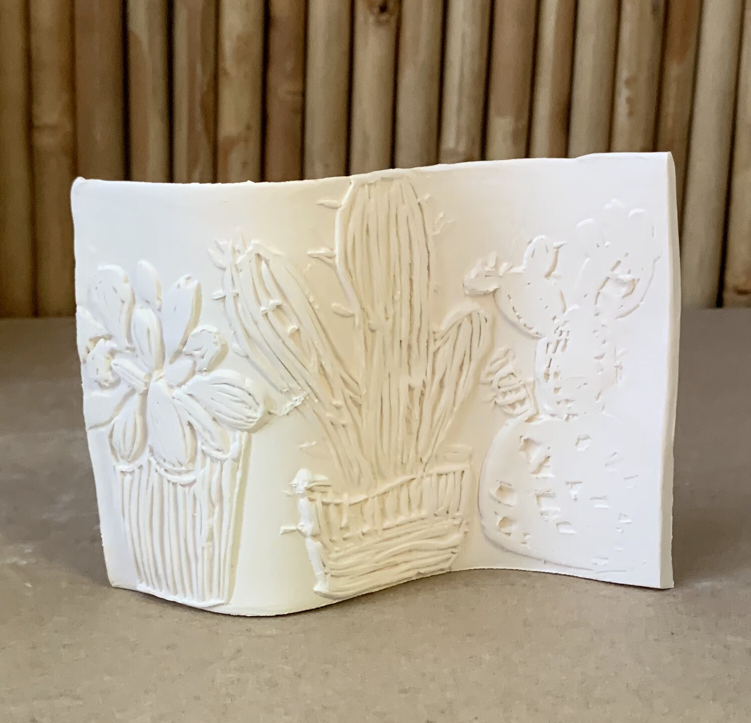 Paint Your Own Pottery - Ceramic   Self Standing Succulent Tile Painting Kit
