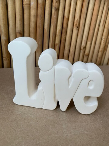 Paint Your Own Pottery - Ceramic   Live Word Plaque Painting Kit