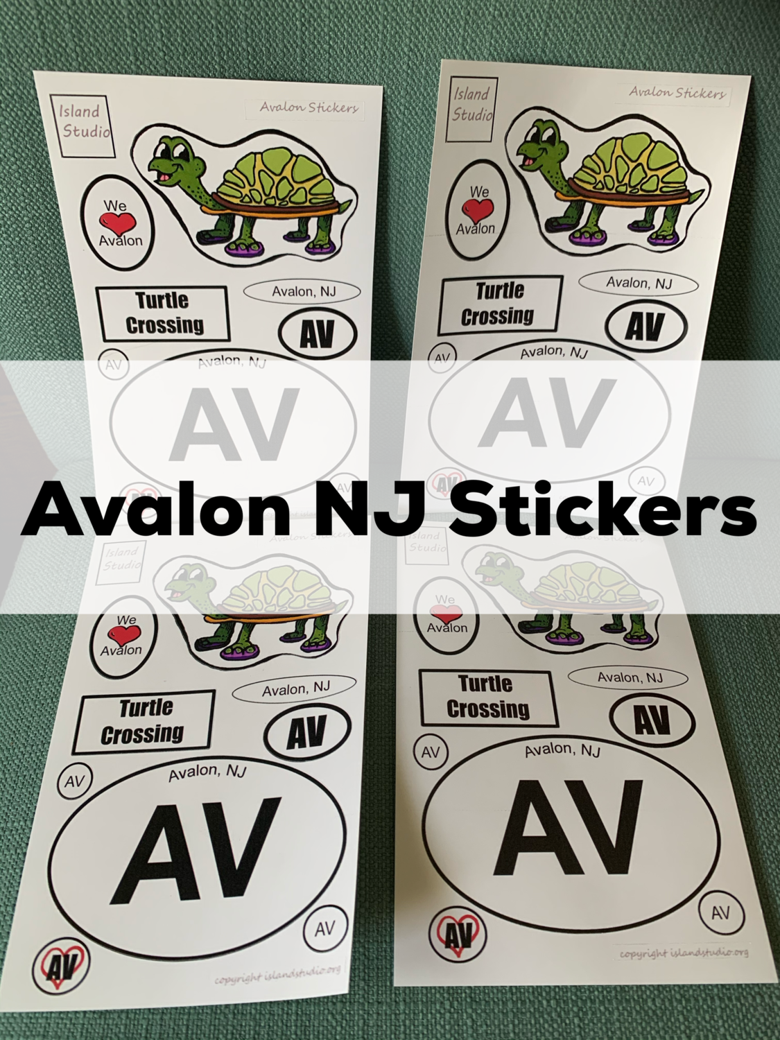 Avalon New Jersey Turtle Stickers