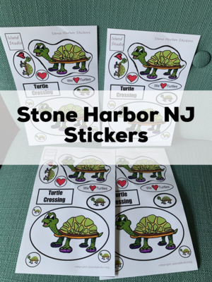 Stone Harbor New Jersey Turtle Stickers