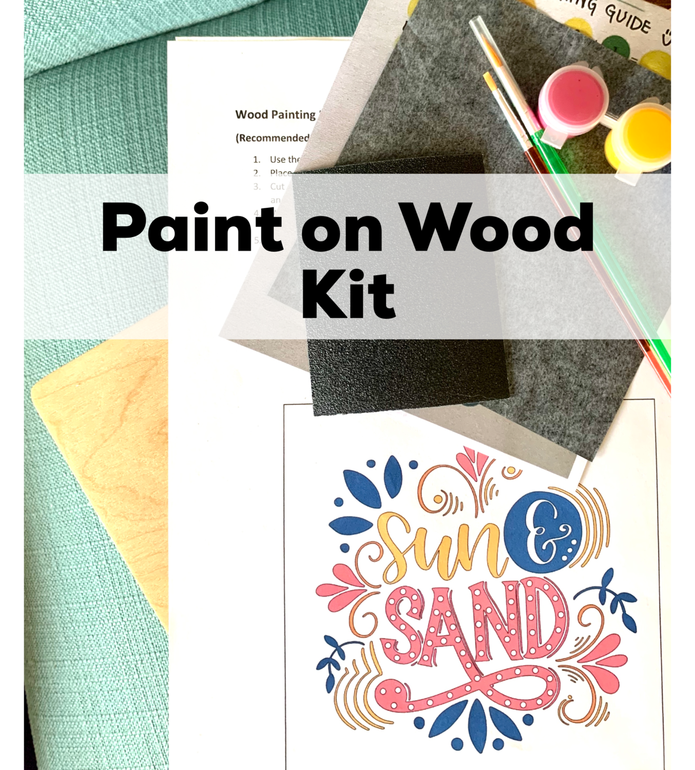 SUN AND SAND Paint Your Own Wood Sign