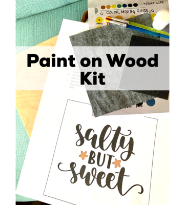 SALTY BUT SWEET Paint Your Own Wood Sign