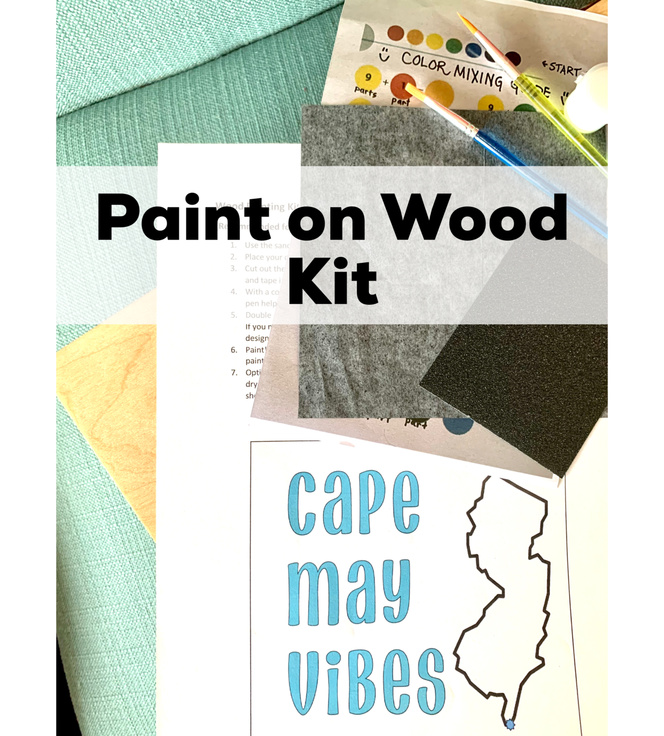 CAPE MAY VIBES Paint Your Own Wood Sign