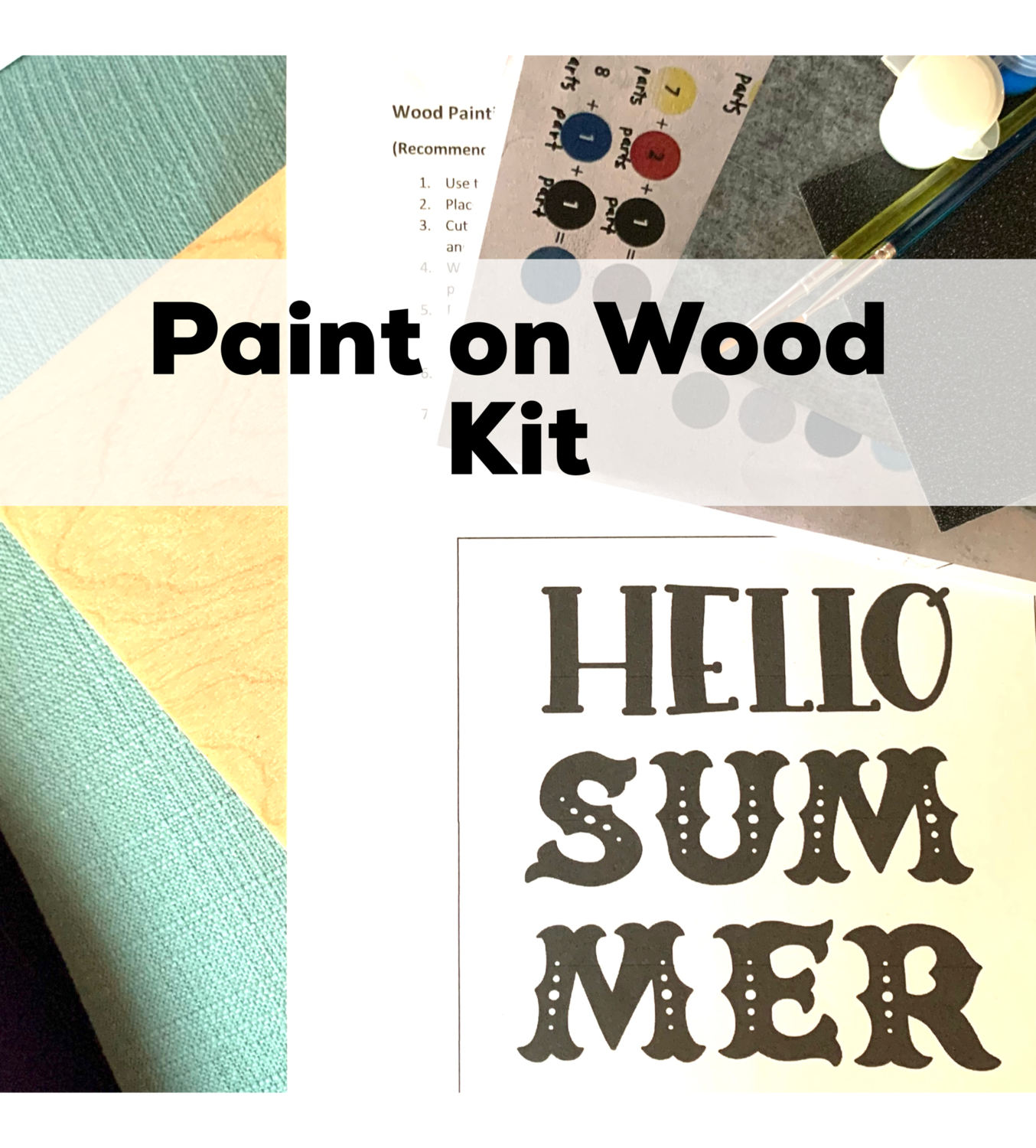 HELLO SUMMER Paint Your Own Wood Sign