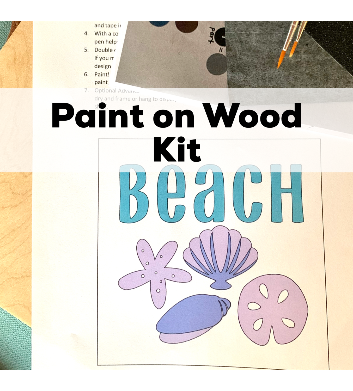 BEACH SHELLS Paint Your Own Wood Sign