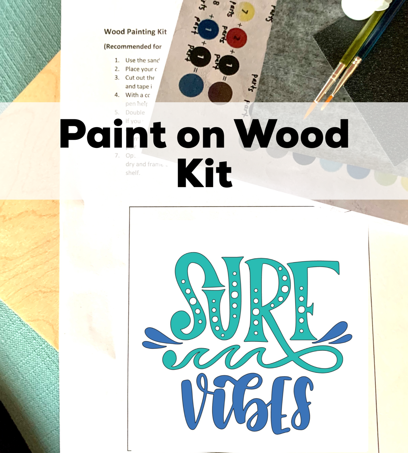 SURF VIBES Paint Your Own Wood Sign