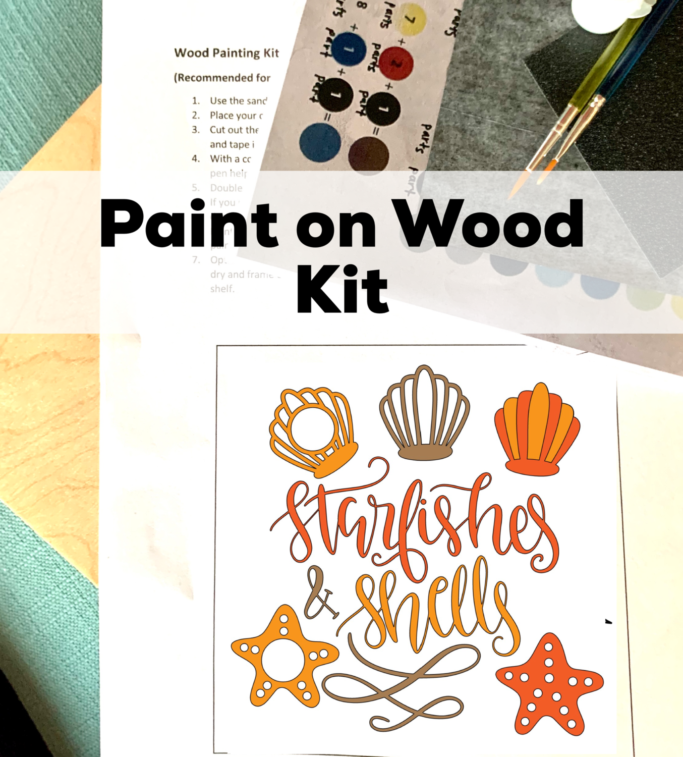 STARFISHES & SHELLS Paint Your Own Wood Sign