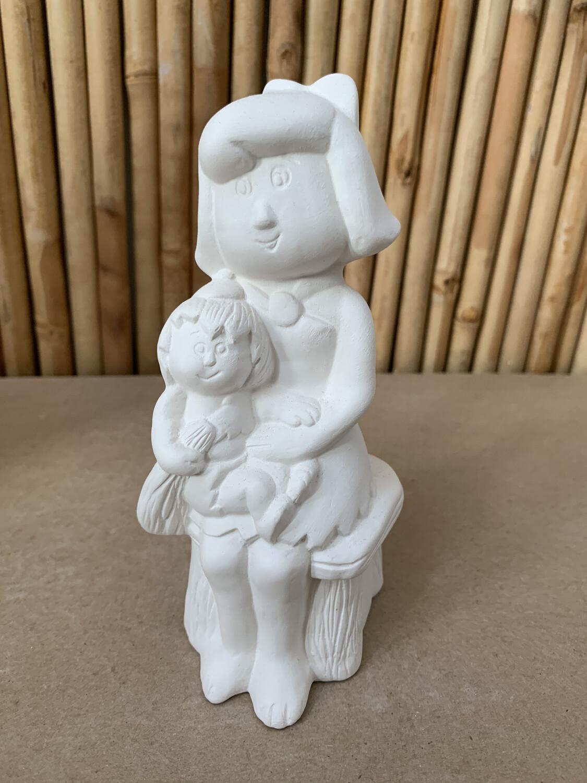 Paint Your Own Pottery - Ceramic   Flintstones Betty Rubble Figurine Painting Kit