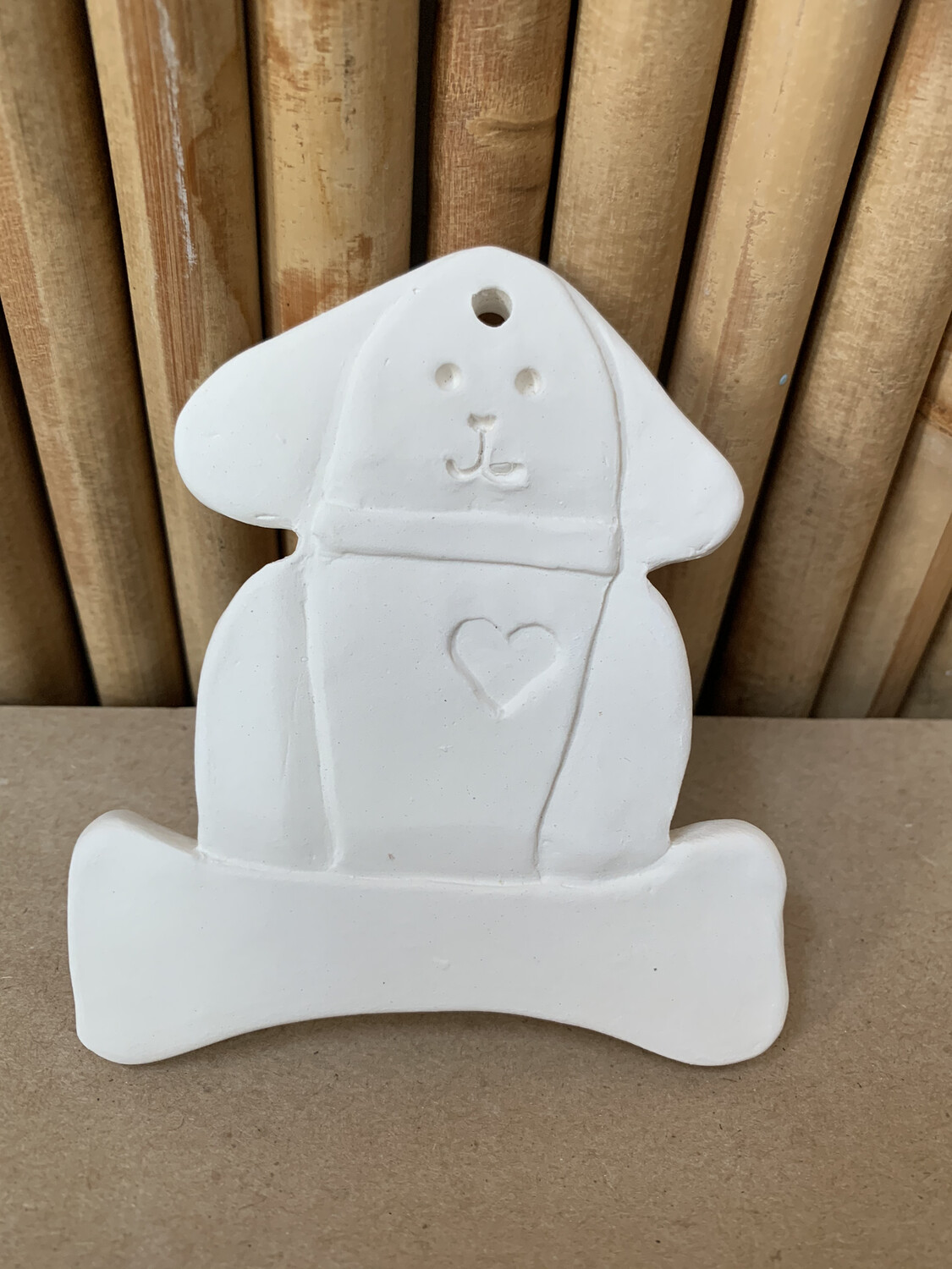 Paint Your Own Pottery - Ceramic   Dog Ornament Painting Kit