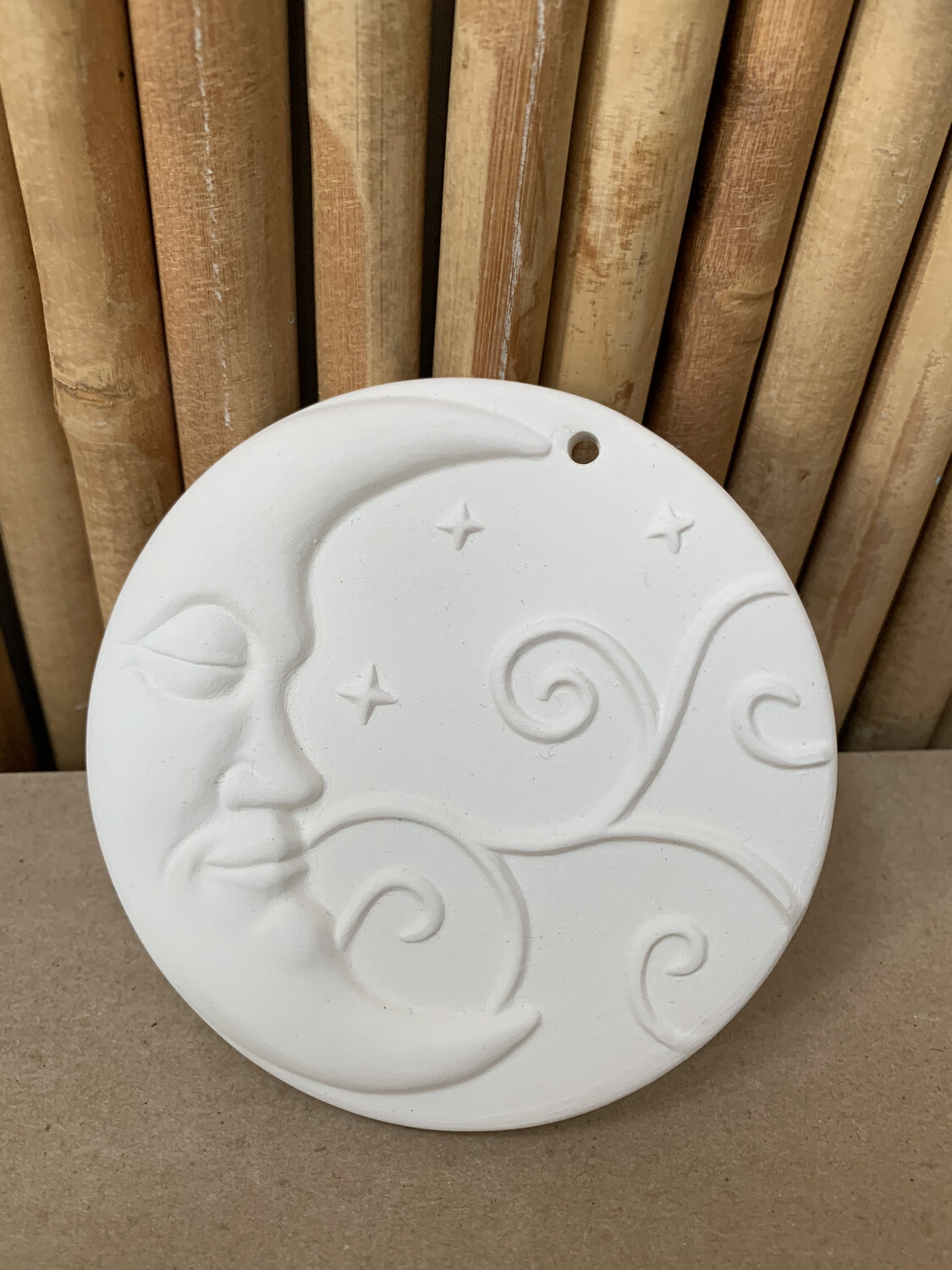 Paint Your Own Pottery - Ceramic   Moon Christmas Ornament Painting Kit