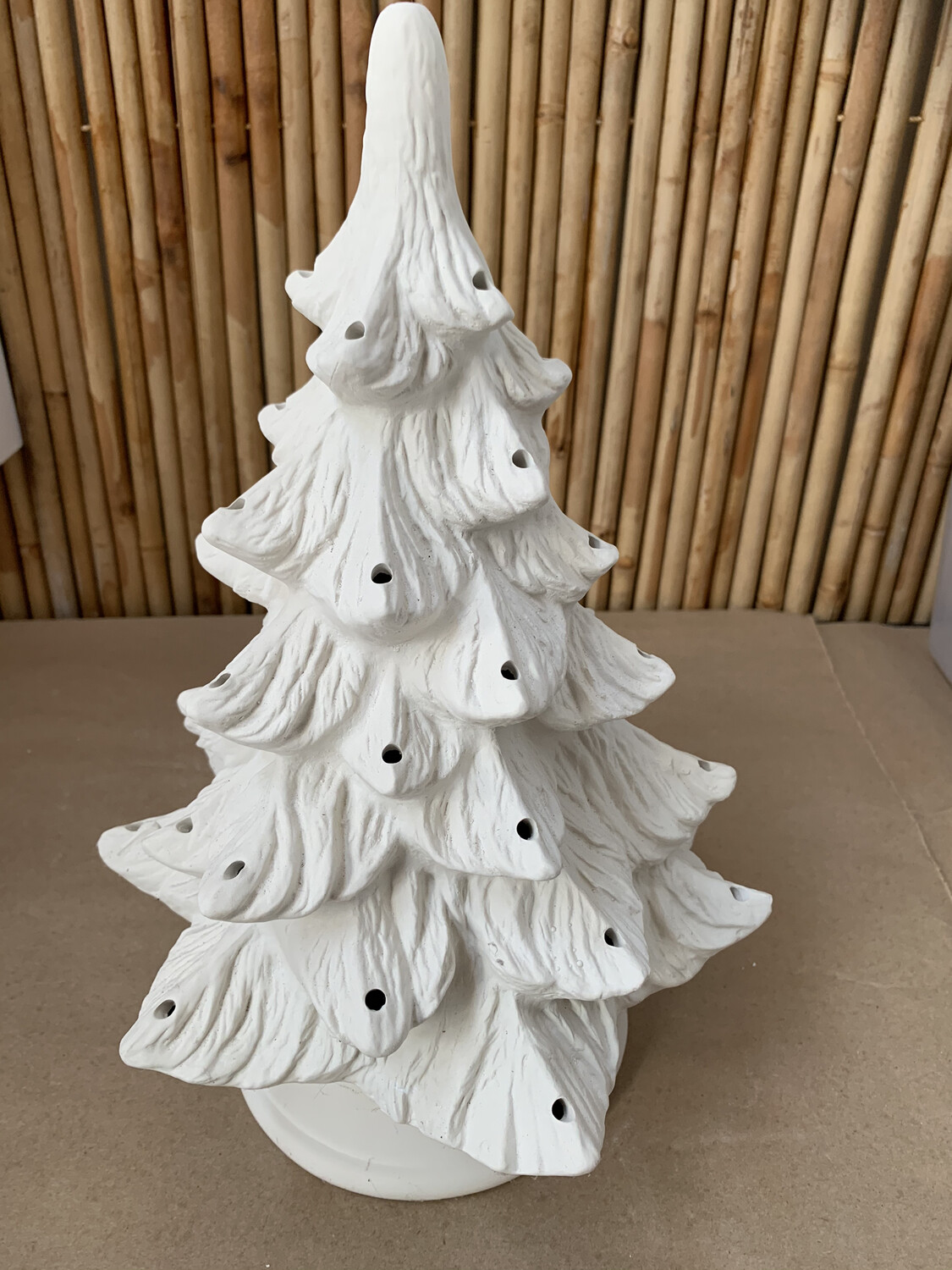 Paint Your Own Pottery - Ceramic   Large Christmas Tree with Lights Painting Kit