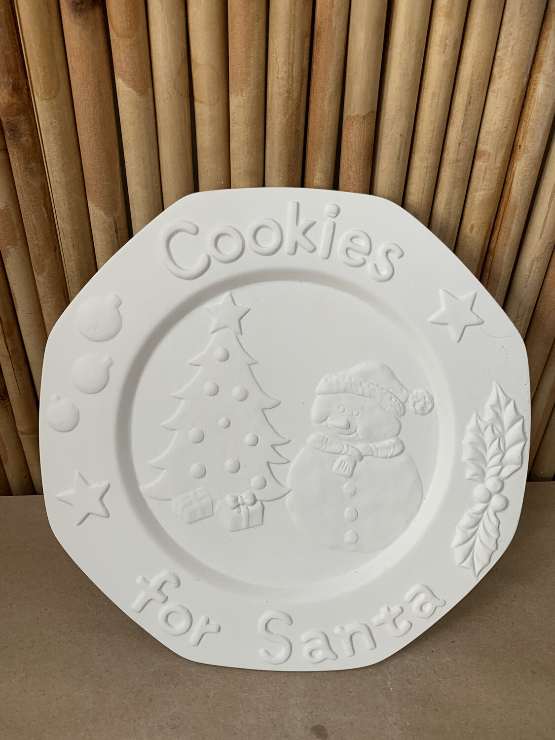 Paint Your Own Pottery - Ceramic   Snowman Cookie Plate Painting Kit