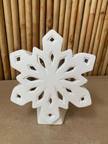 Paint Your Own Pottery - Ceramic   Snowflake Luminary Lantern Painting Kit