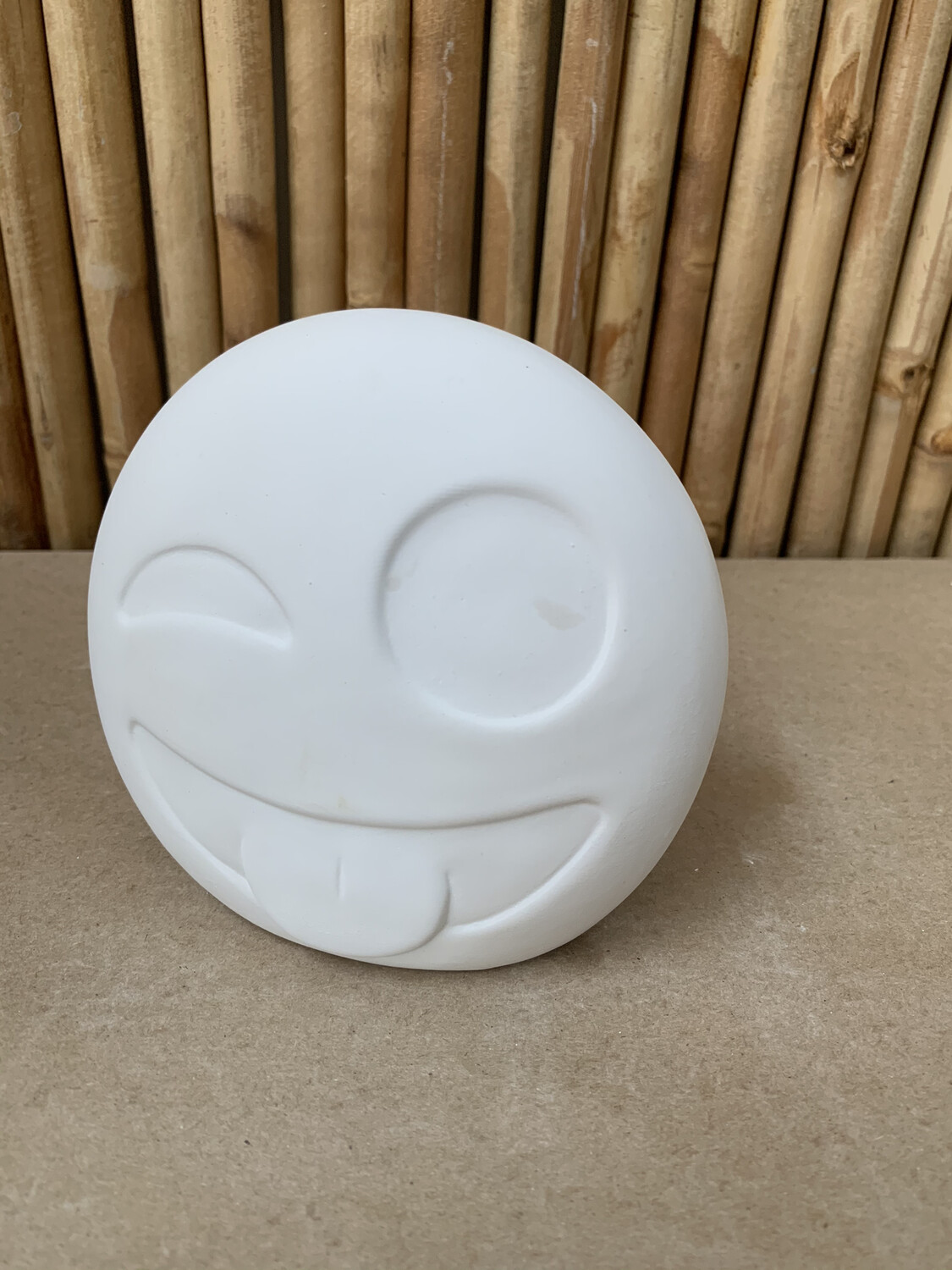 Paint Your Own Pottery - Ceramic   Winking Emoji Bank Painting Kit