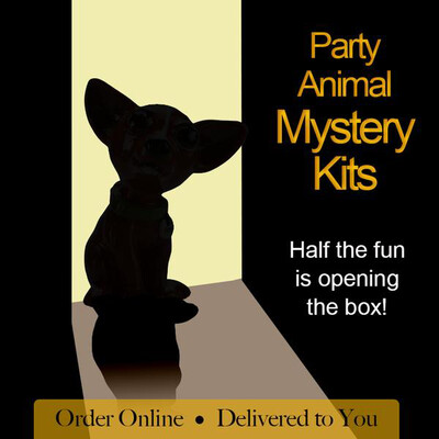 NO FIRE Paint Your Own Pottery Kit -  Ceramic Mystery Party Animal Figurine Acrylic Painting Kit