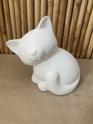 Paint Your Own Pottery - Ceramic   Cat Bank Painting Kit