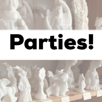 Birthday Party Packages - Paint Your Own Pottery - Minimum Of 6 Guests
