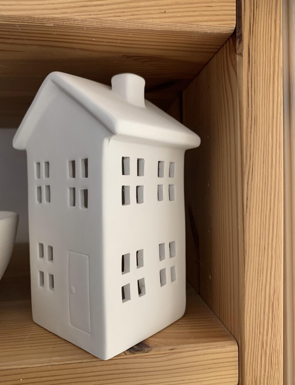 NO FIRE Paint Your Own Pottery Kit -  Ceramic House Luminary Lantern Acrylic Painting Kit
