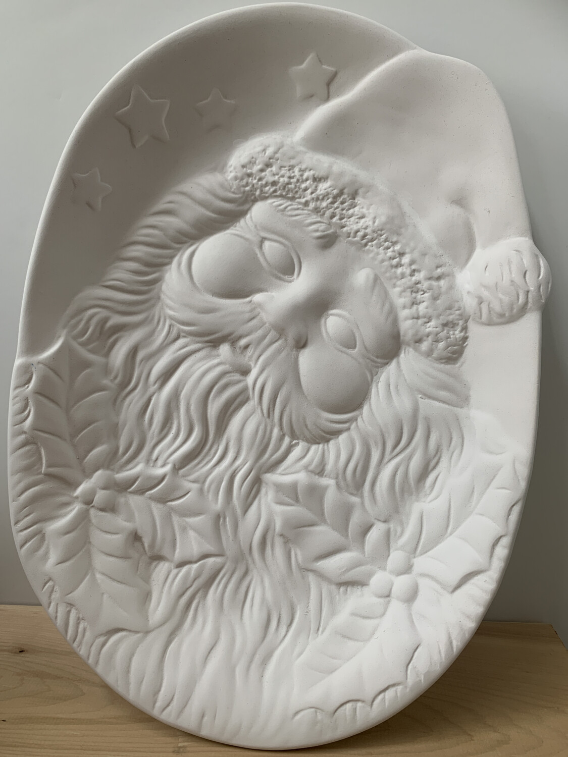 Paint Your Own Pottery - Ceramic   Santa Cookie Plate Painting Kit