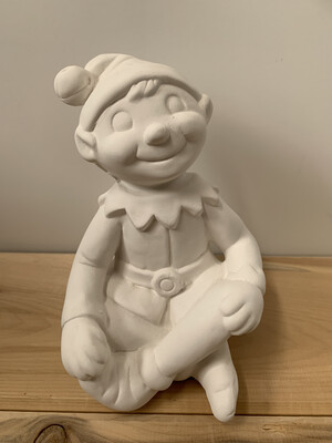 Paint Your Own Pottery - Ceramic   Christmas Shelf Elf Painting Kit