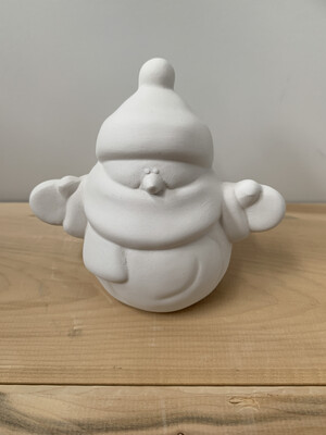 Paint Your Own Pottery - Ceramic   Small Snowman Figurine Painting Kit