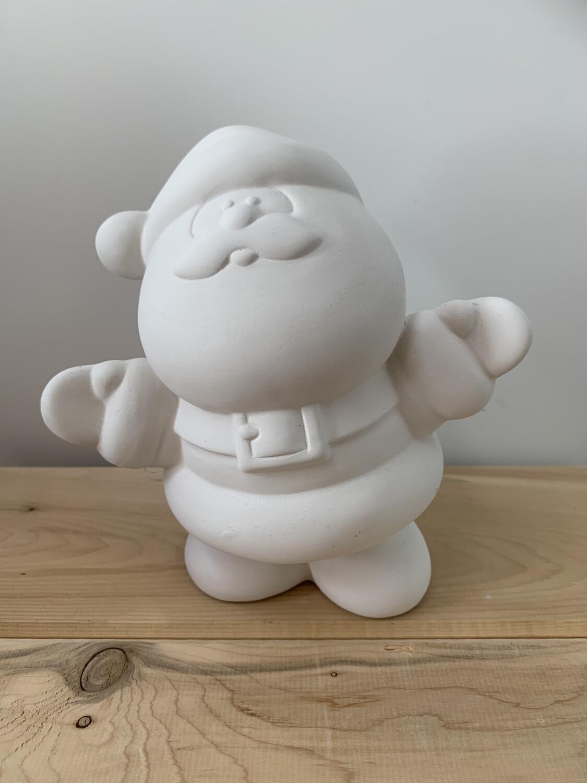 Paint Your Own Pottery - Ceramic   Medium Santa Figurine Painting Kit