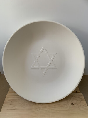 Paint Your Own Pottery - Ceramic   Star of David Serving Bowl Painting Kit