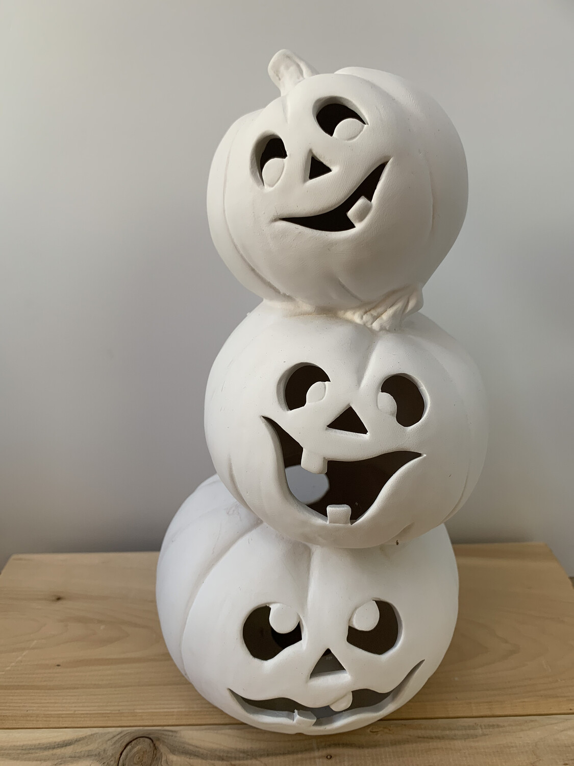 Paint Your Own Pottery - Ceramic   Light Up Pumpkin Stack Painting Kit