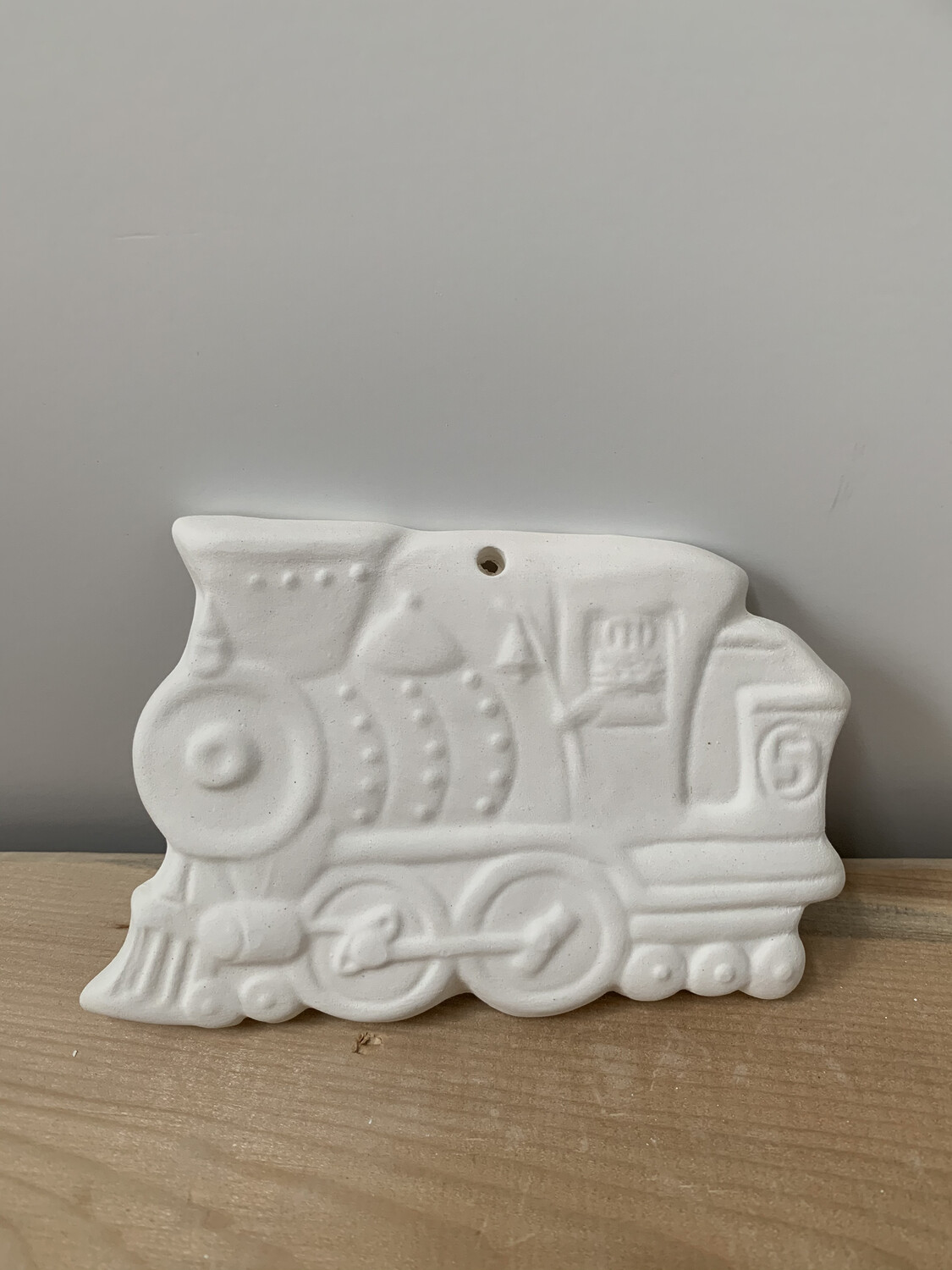 Paint Your Own Pottery - Ceramic   Train Christmas Ornament Painting Kit