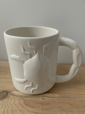 Paint Your Own Pottery - Ceramic   Crab Mug Painting Kit