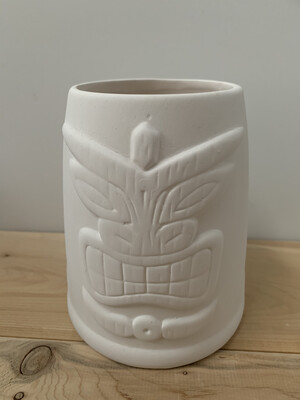 Paint Your Own Pottery - Ceramic   Tiki Palm Tree Cup Painting Kit