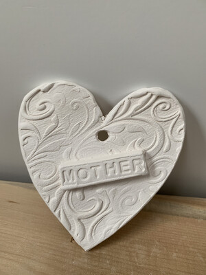 Paint Your Own Pottery - Ceramic   Heart Christmas Ornament Painting Kit For Mom And Mother