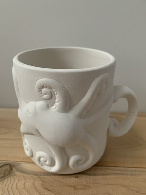 Paint Your Own Pottery - Ceramic   Octopus Mug Painting Kit