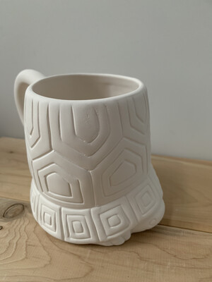 Paint Your Own Pottery - Ceramic   Turtle Mug Painting Kit