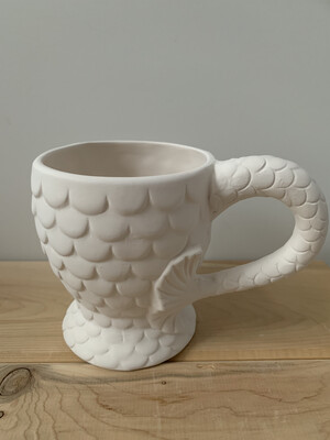 Paint Your Own Pottery - Ceramic   Mermaid Tail Mug Painting Kit