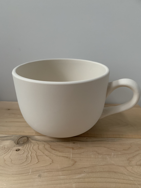 Paint Your Own Pottery - Ceramic   Jumbo Cappuccino Mug Painting Kit